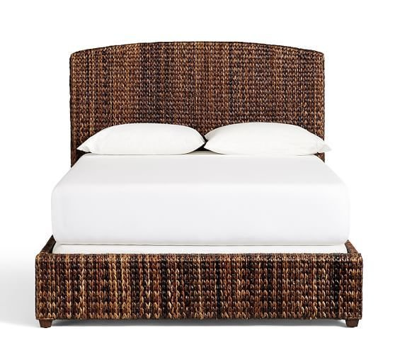 Best Seagrass Bed Headboard Pottery Barn With Pictures