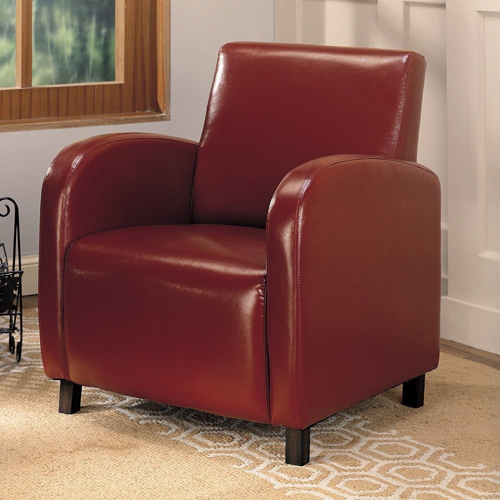 Best Furniture Red Upholstery Stationary Accent Arm Chair With Pictures