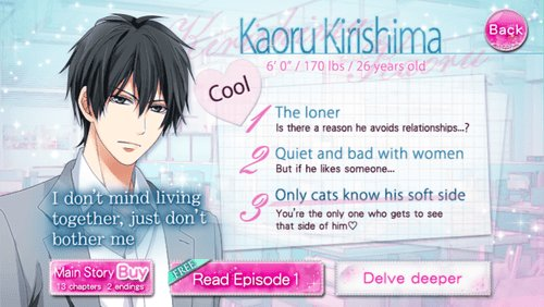 Best Otome Sweetheart • Our Two Bedroom Story Kaoru Kirishima With Pictures