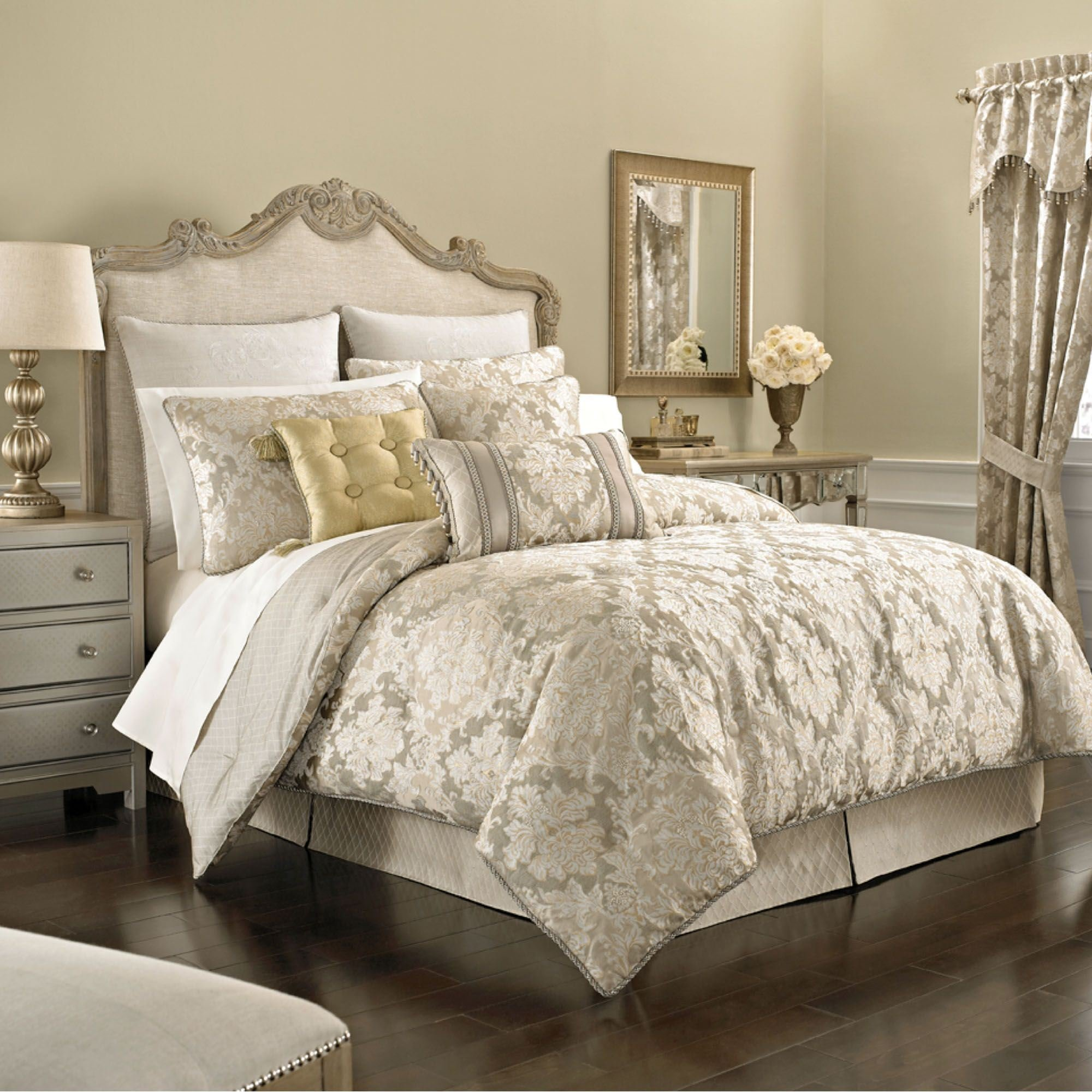 Best Ava Leaf Comforter Bedding By Croscill With Pictures