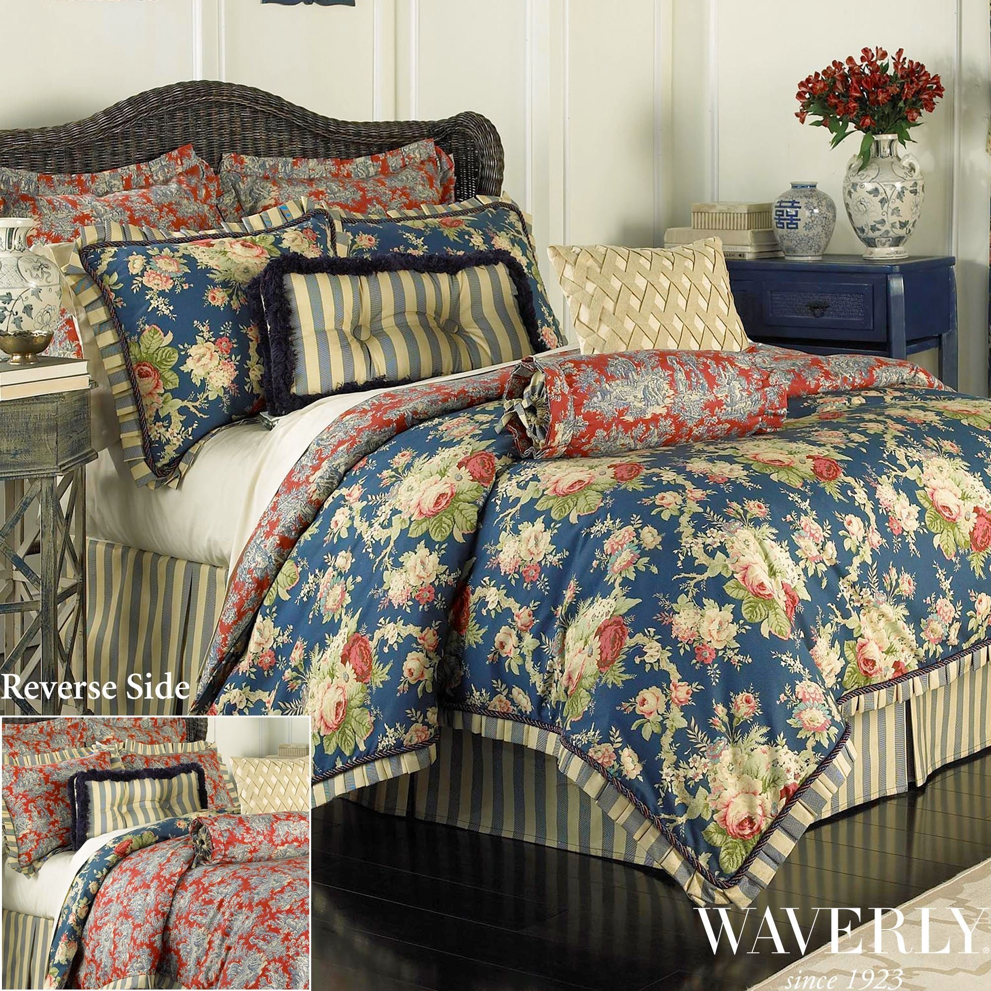 Best Sanctuary Rose Reversible Comforter Bedding By Waverly With Pictures