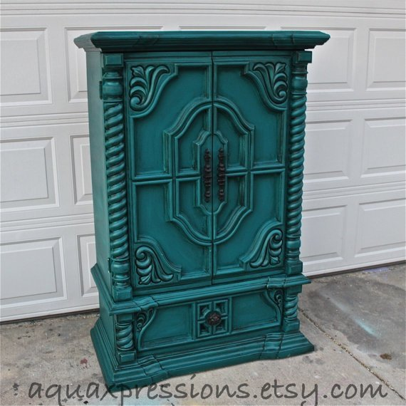 Best Vintage Armoire Gypsy Teal Bedroom From Aquaxpressions With Pictures