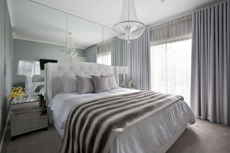 Best Floor To Ceiling Mirrors Transitional Bedroom Adore With Pictures