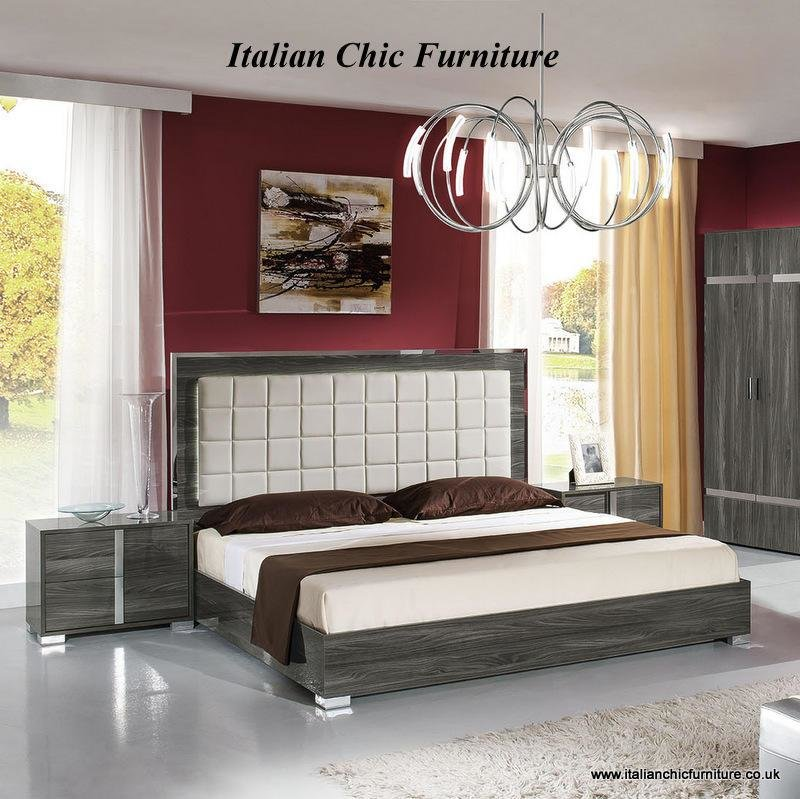 Best San Marino Bedroom Set With 3 Drawer Dresser Elm Grey With Pictures