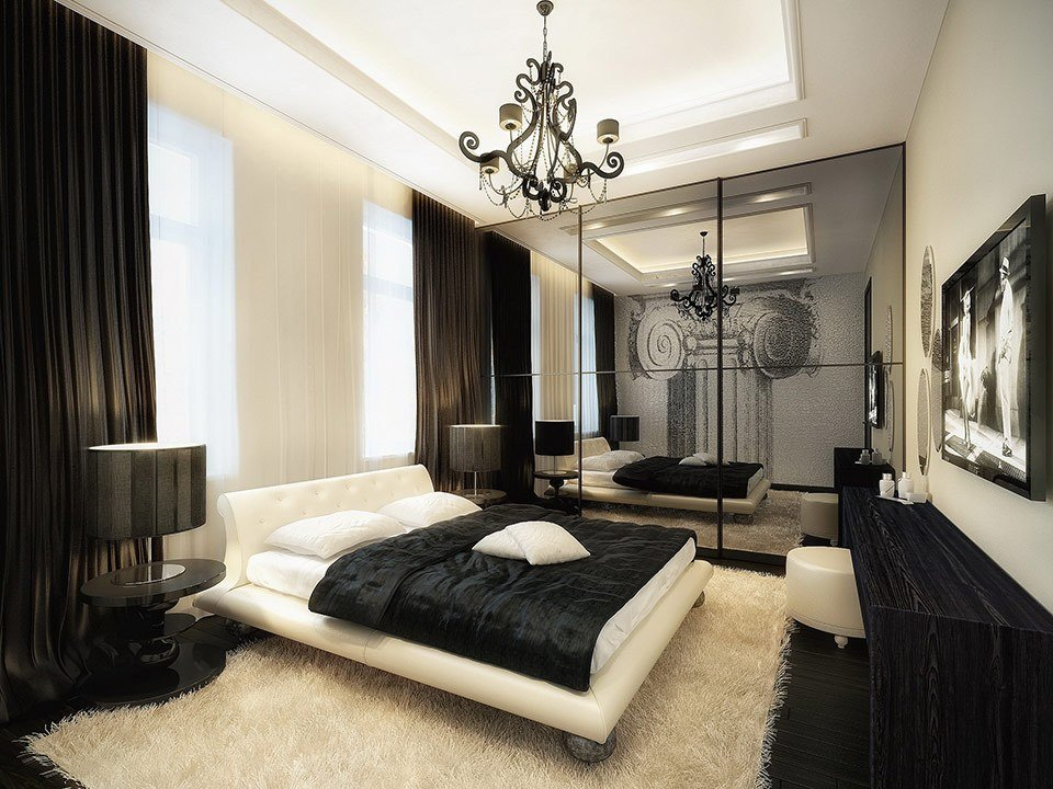 Best Luxurious Black And White Bedroom Interior Design Ideas With Pictures