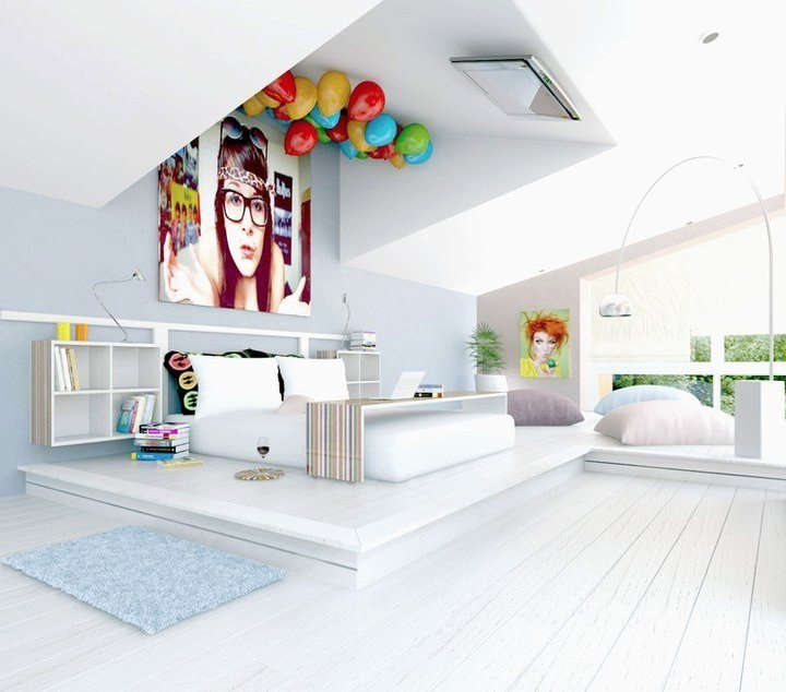 Best 7 White Fun Bedroom Tv On Ceiling Interior Design Ideas With Pictures