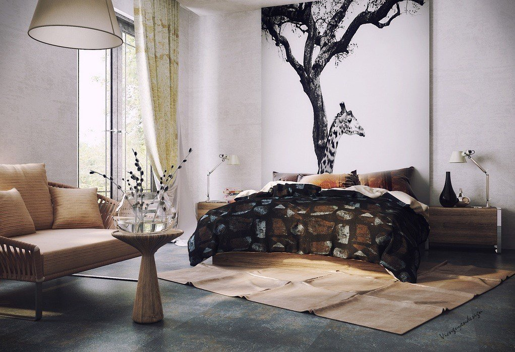 Best Organic Vibe Bedroom With Feature Wall Interior Design With Pictures