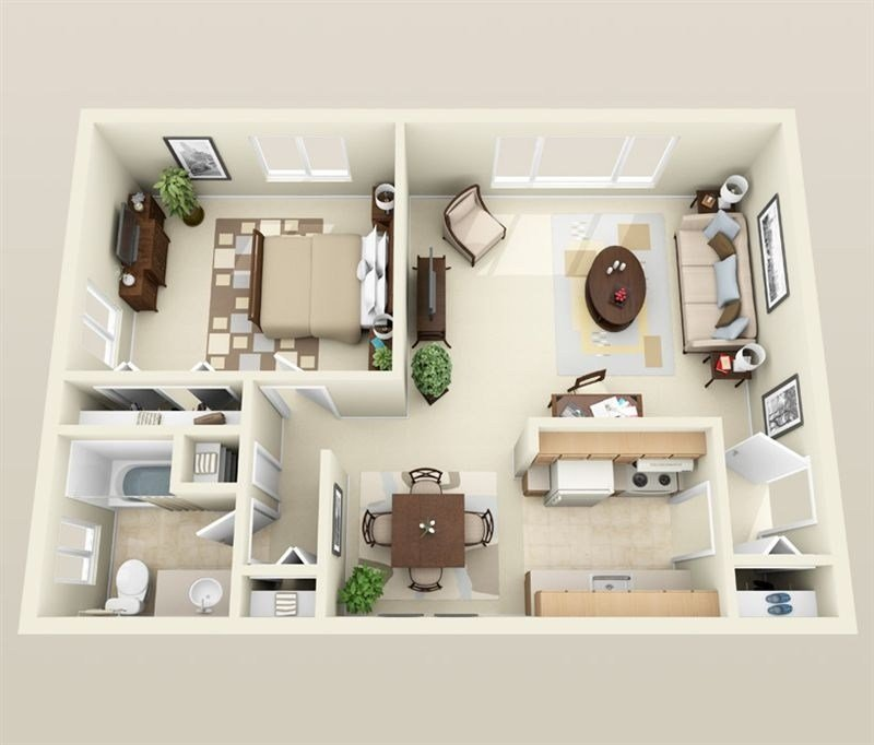 Best 1 Bedroom Apartment House Plans With Pictures