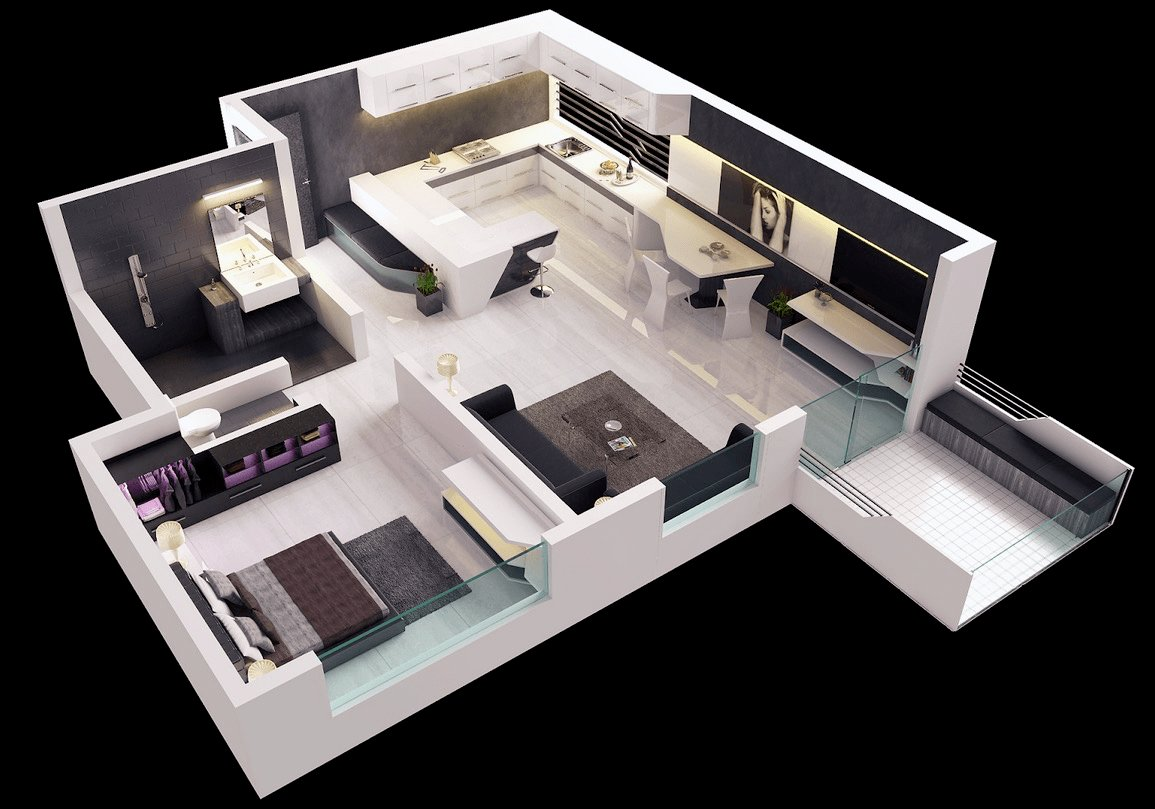 Best 25 One Bedroom House Apartment Plans With Pictures