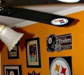 Best Pittsburgh Steelers Football Themed Tv Room Hometalk With Pictures