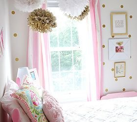 Best Girl S Room In Pink White Gold Decor Hometalk With Pictures
