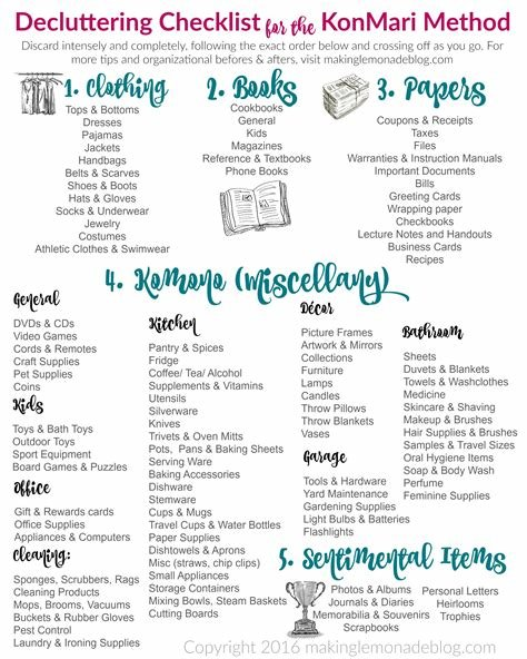 Best The Ultimate Free Printable Decluttering Checklist For With Pictures