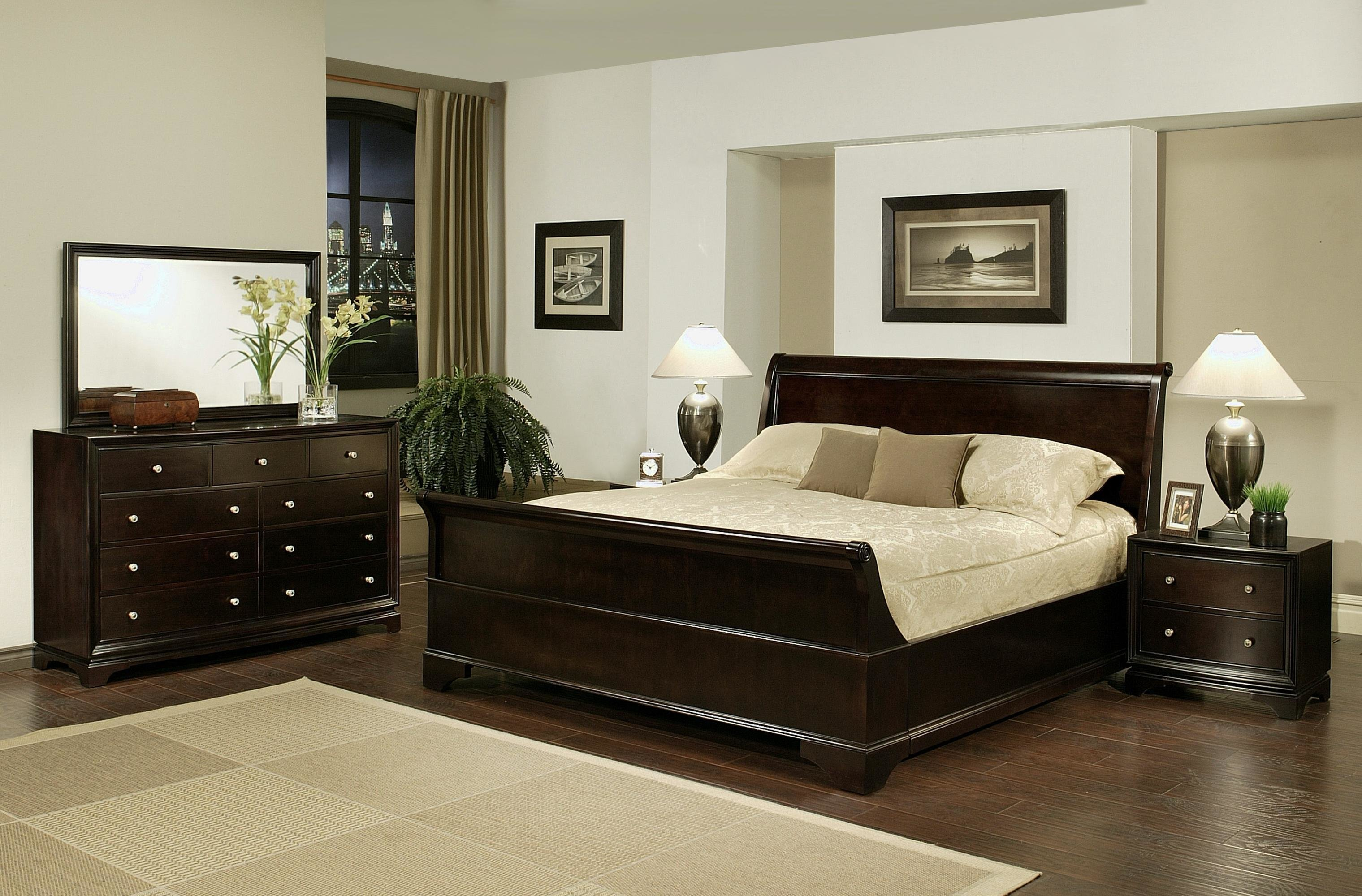 Best Abbyson Living 5 Piece Sleigh Queen Size Bedroom Set By Oj With Pictures
