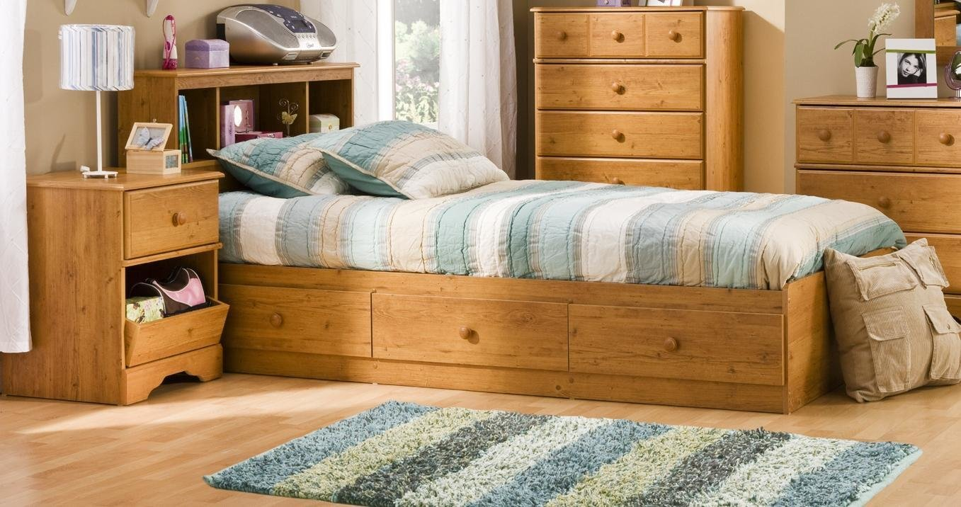 Best South Shore Kids Twin Wood Captain S Bed 3 Piece Bedroom With Pictures