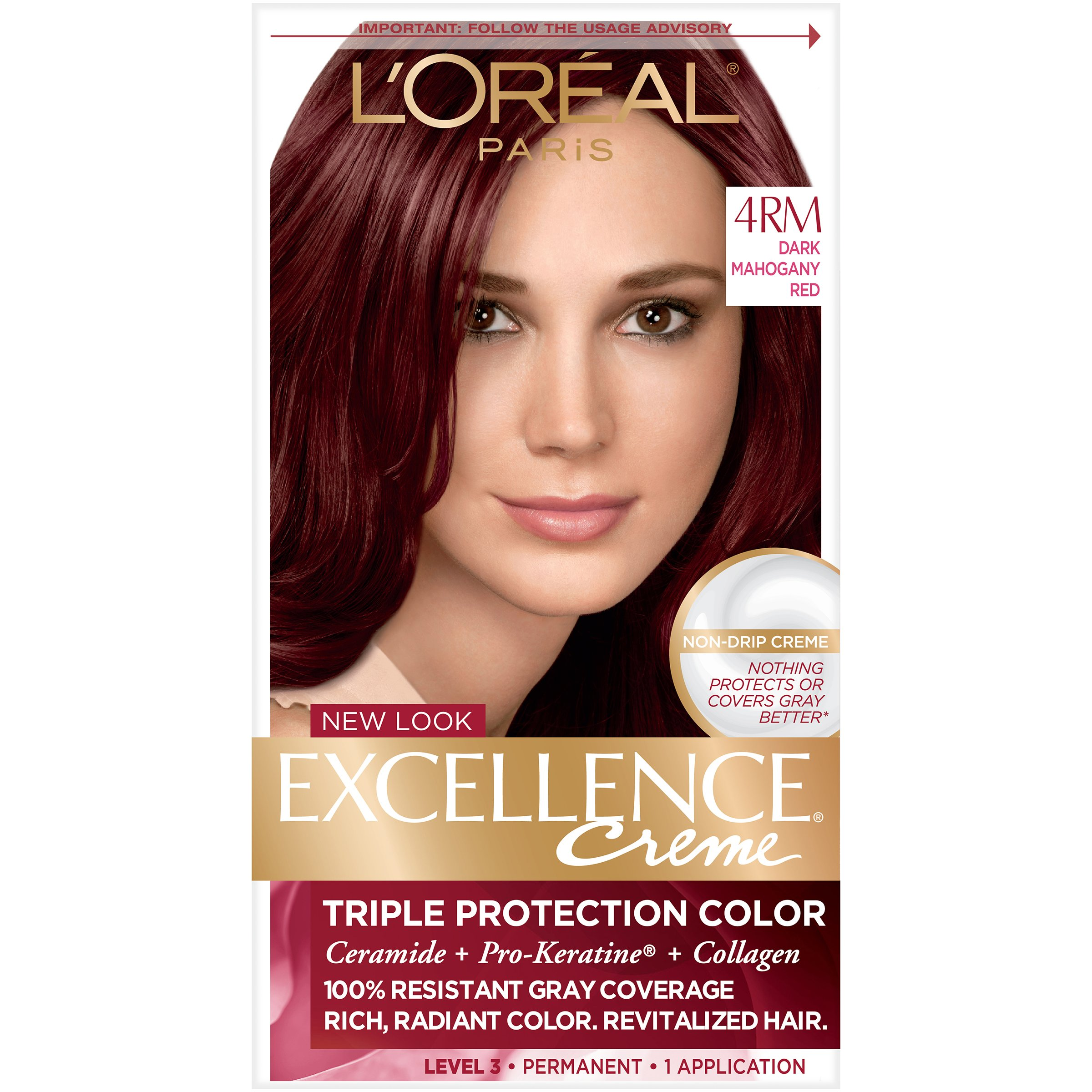 Free L Oreal 4Rm Red Richesse Warmer Dark Mahogany Red Hair Wallpaper