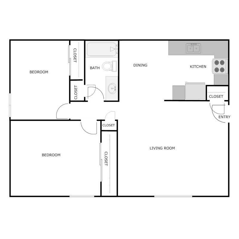 Best 2 Bedroom 1 Bath Apartment Courtyard Apartments With Pictures