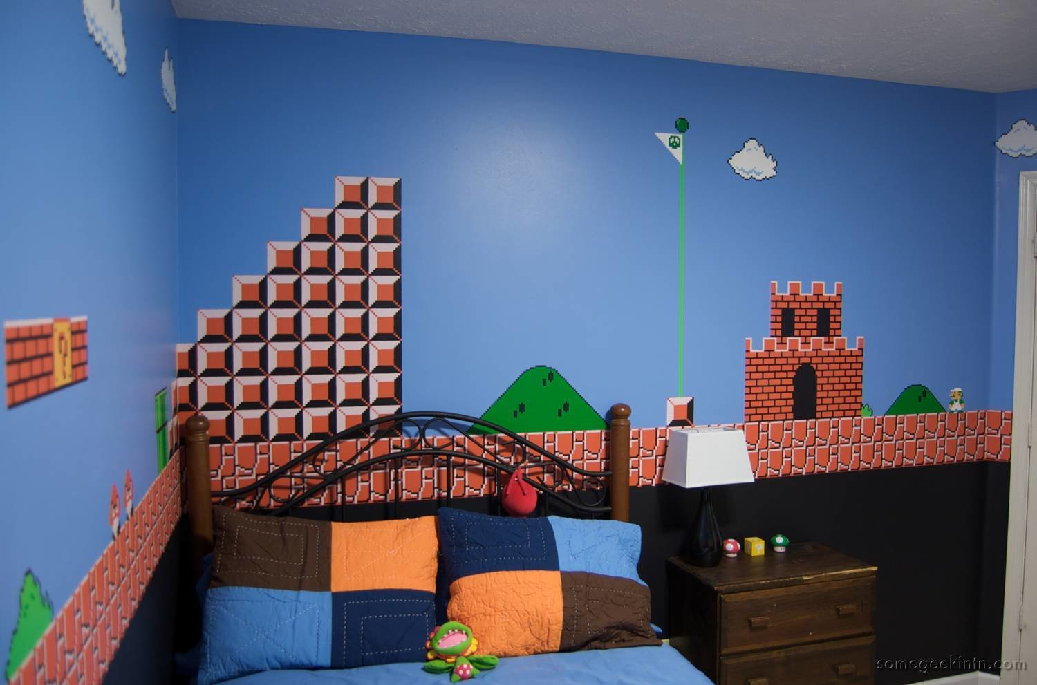 Best Kids Room Super Mario Mural Boing Boing With Pictures