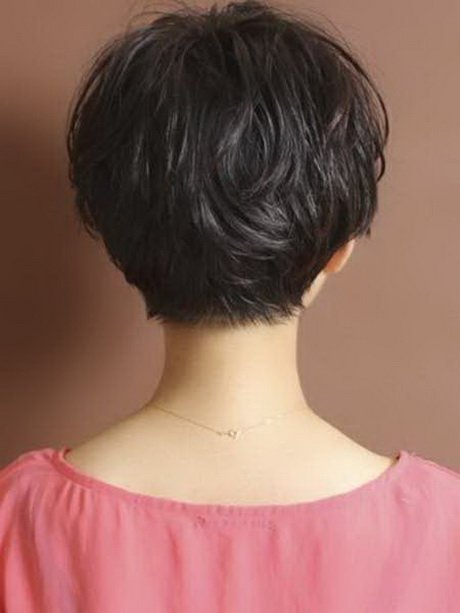 Free Back View Of Short Haircuts For Women Wallpaper