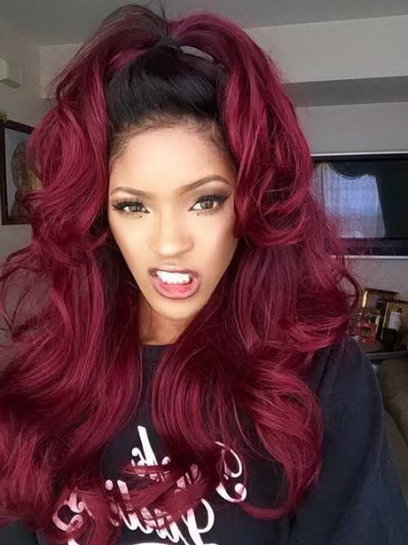 Free Red Weave Hairstyles Wallpaper