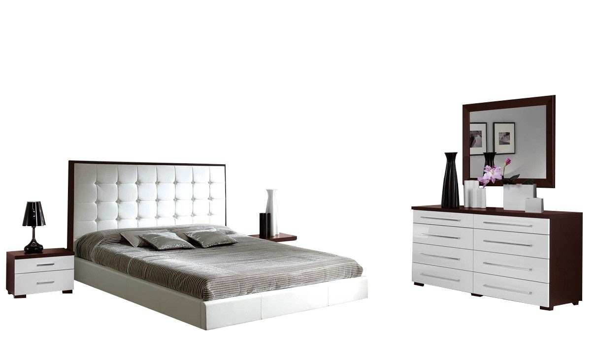 Best 622 Penelope Luxury Combo Bedroom Set In White Wenge With Pictures