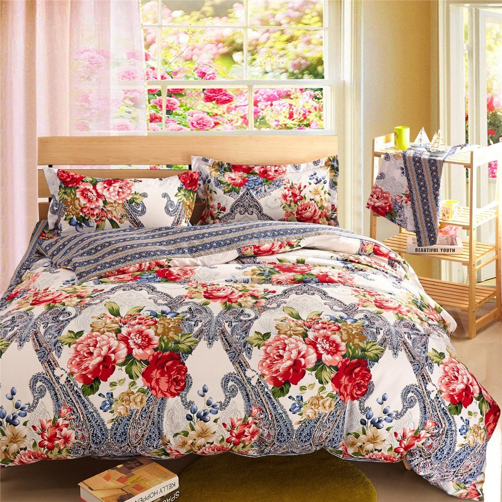 Best Silver Bedding Sets Floral Comforter Sets Cheap Bed Linen With Pictures