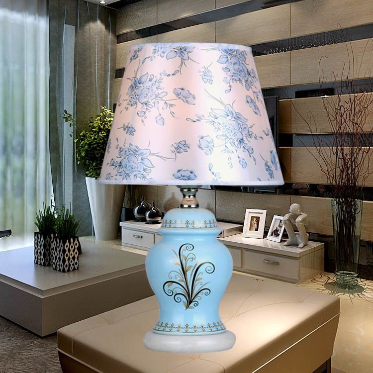 Best Chinese Blue Ceramic Table Lamps For Bedroom Bedside Fixture Manufacturers Table Lamp Wholesale With Pictures