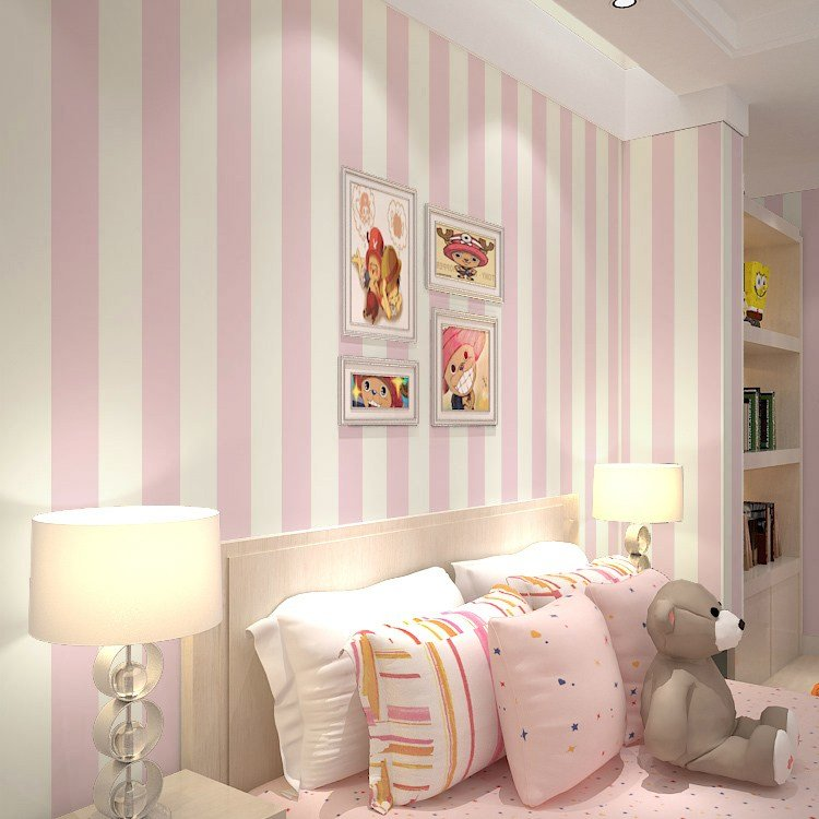 Best Pink Stripe Wall Paper For Walls Vertical Striped With Pictures