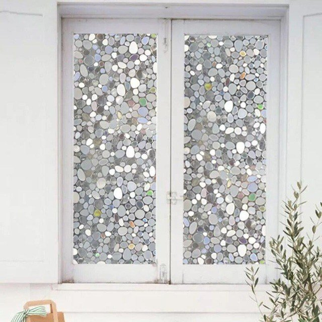 Best 45 100Cm Colorful Pebbles Glass Window Film Window With Pictures