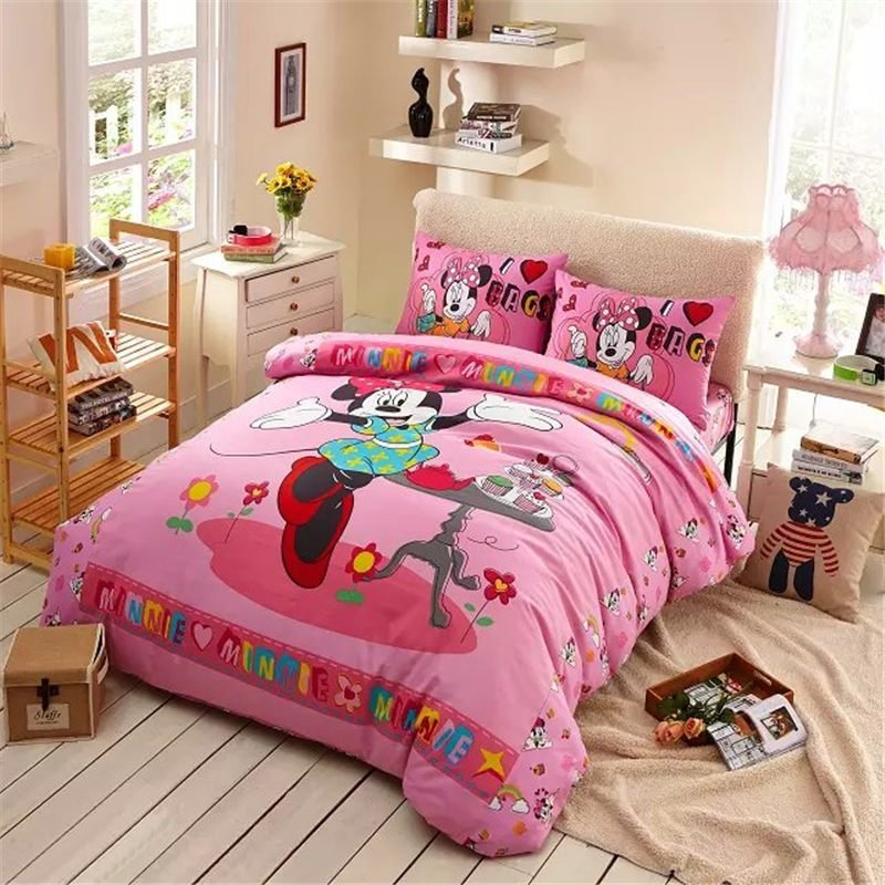 Best Sweet Cakes Minnie Mouse Bed Set Girl Baby Bedding Cheap With Pictures