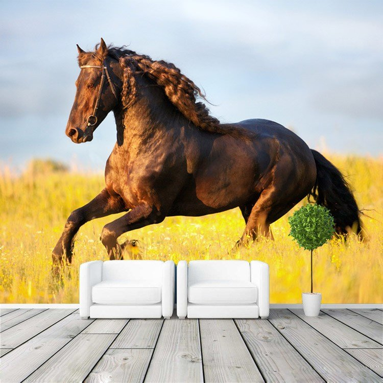 Best Beautiful Prairie Horse Wallpaper Custom Wall Mural 3D With Pictures