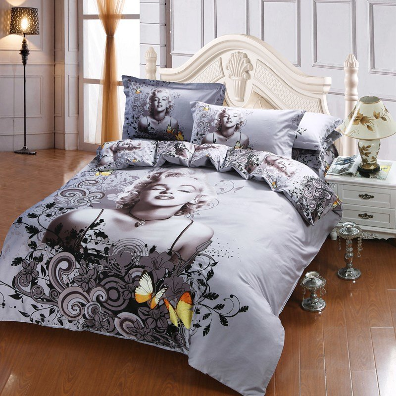 Best Good Quality 3D New Design Marilyn Monroe Quilt Cover 100 With Pictures