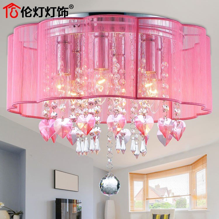 Best Crystal Ceiling Romantic Fashion Warm Pastoral Style Led With Pictures