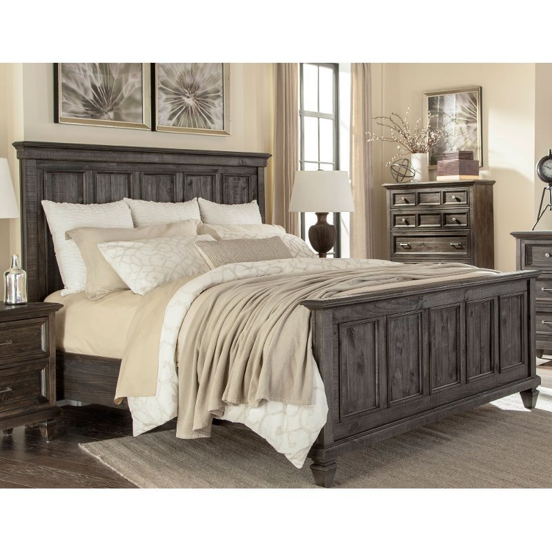 Best Classic Charcoal Gray California King Bed Calistoga Rc With Pictures