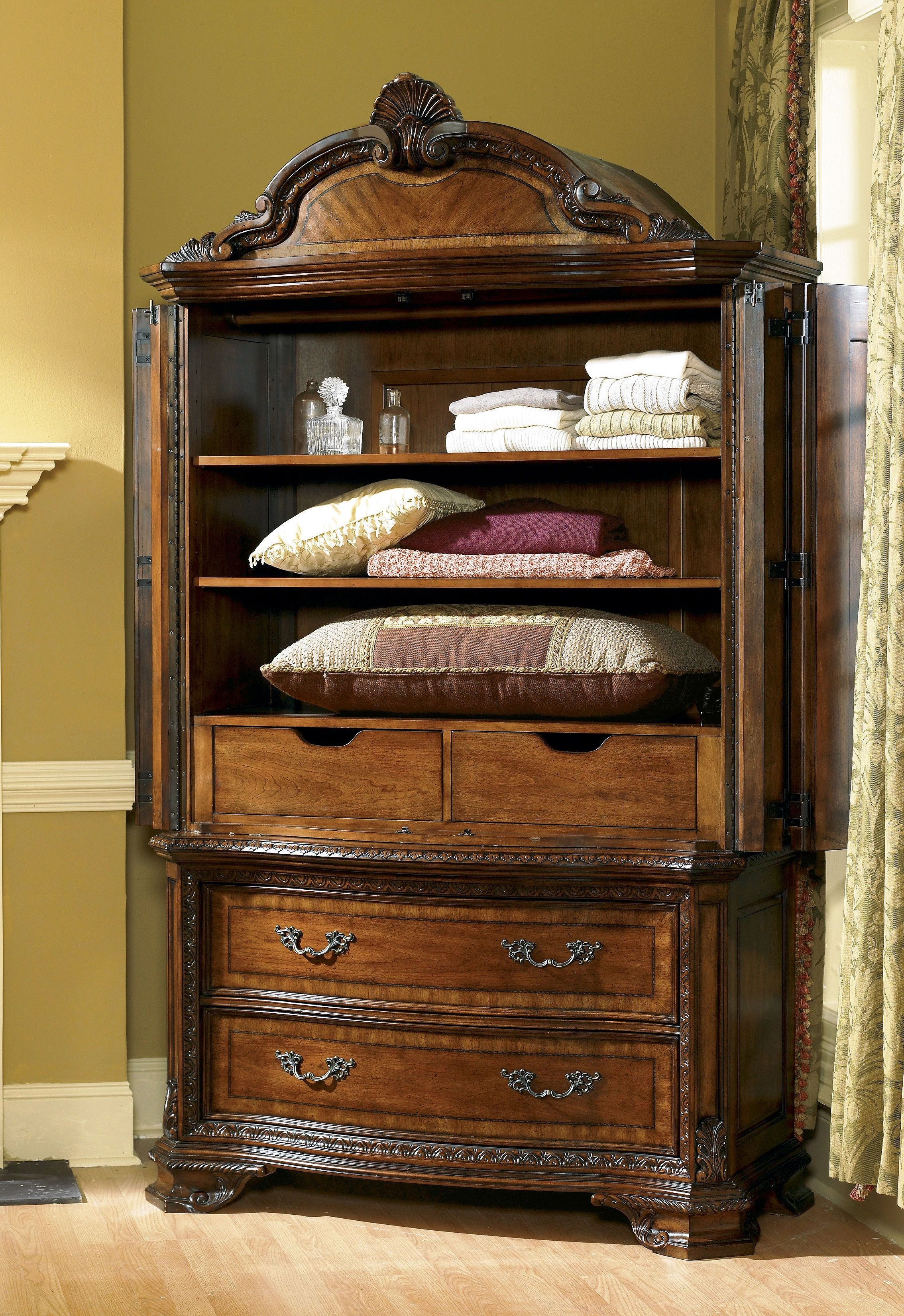 Best Art Furniture Bedroom Armoire Set 143160 2606 Hickory With Pictures