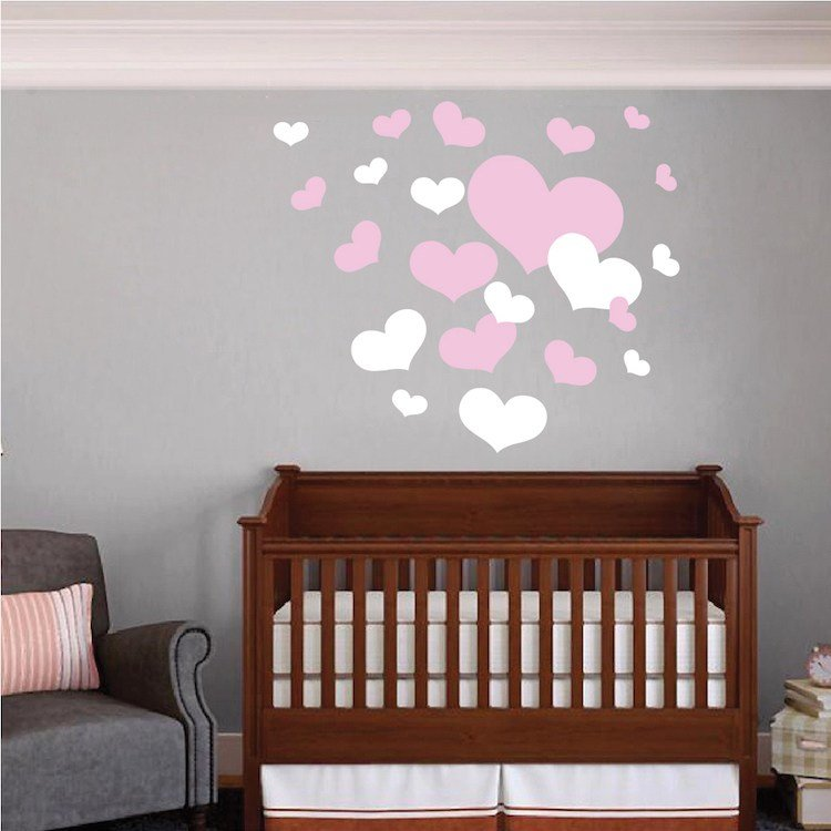 Best Nursery Room Heart Wall Decals Trendy Wall Designs With Pictures