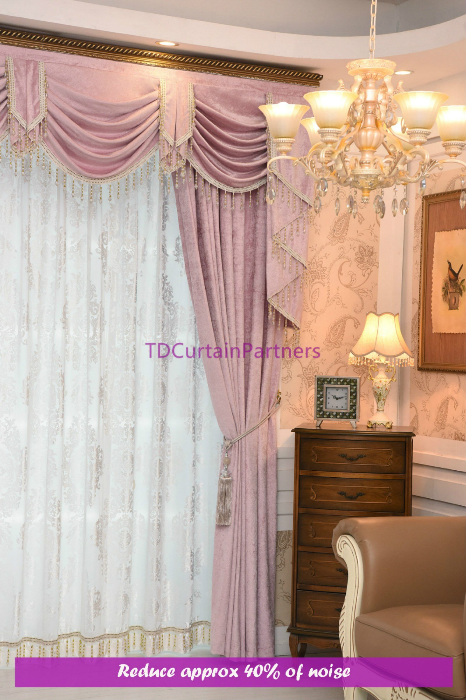 Best Bedroom Pink Curtains Swag Pelmet Valance Sheer Drapes With Pictures