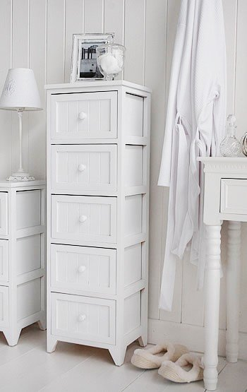 Best Maine Tall Slim Chest Of 5 Drawers White Tallboy Bedroom With Pictures