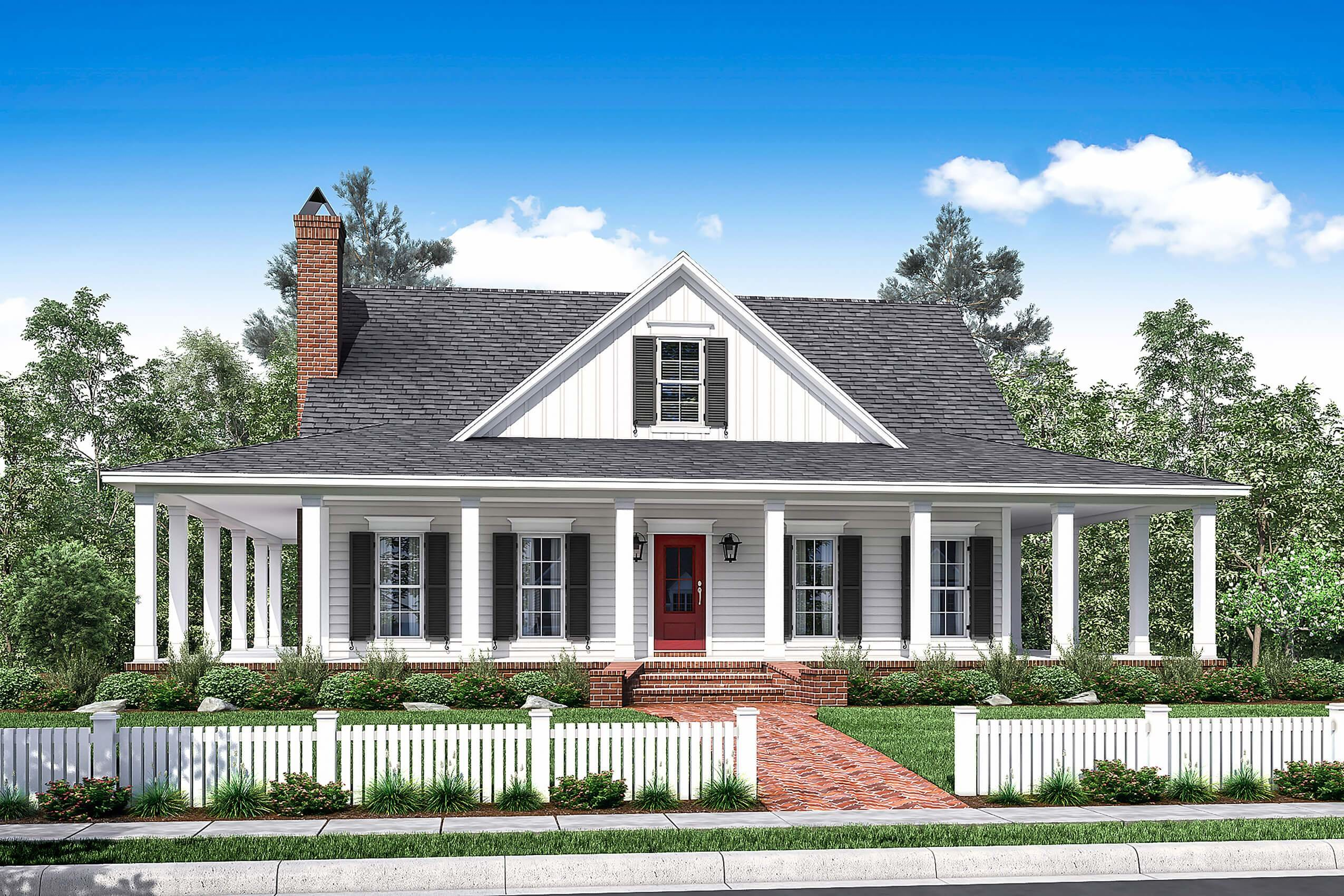 Best 3 Bedrm 2084 Sq Ft Southern Home With Wrap Around Porch With Pictures