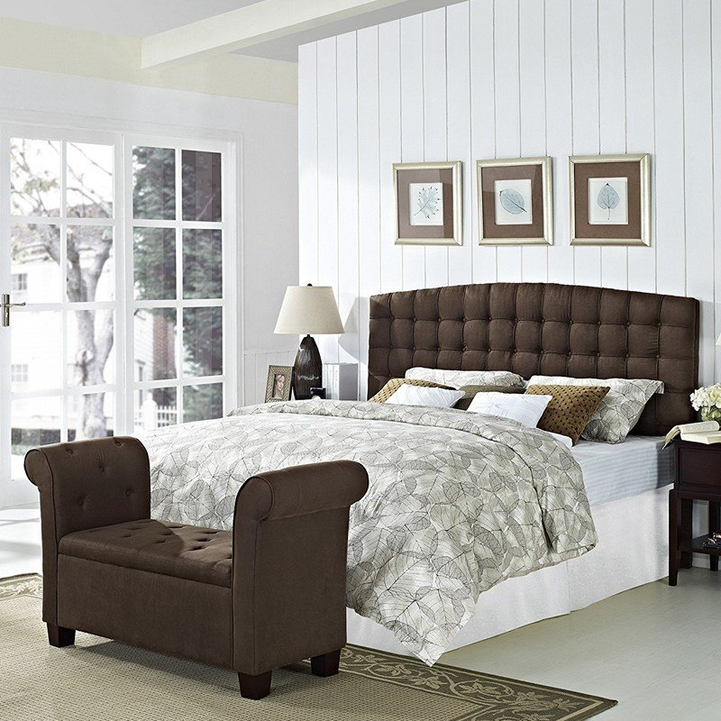 Best Bedroom Upholstered Headboard Modern Style King Size With Pictures