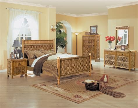 Best Tahiti All Natural Wicker And Rattan Bedroom 4 Pc Set With Pictures