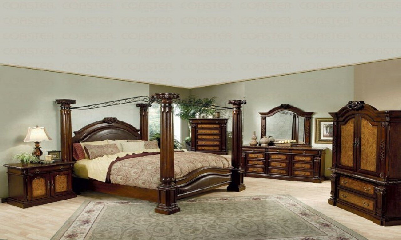 Best King Size Canopy Bedroom Sets Photos And Video King Size With Pictures