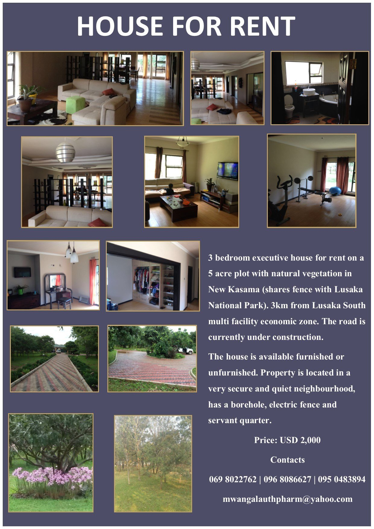 Best 11 03 2016 House For Rent » Ad Dicts Ads Zambia In Your Face Advertising With Pictures