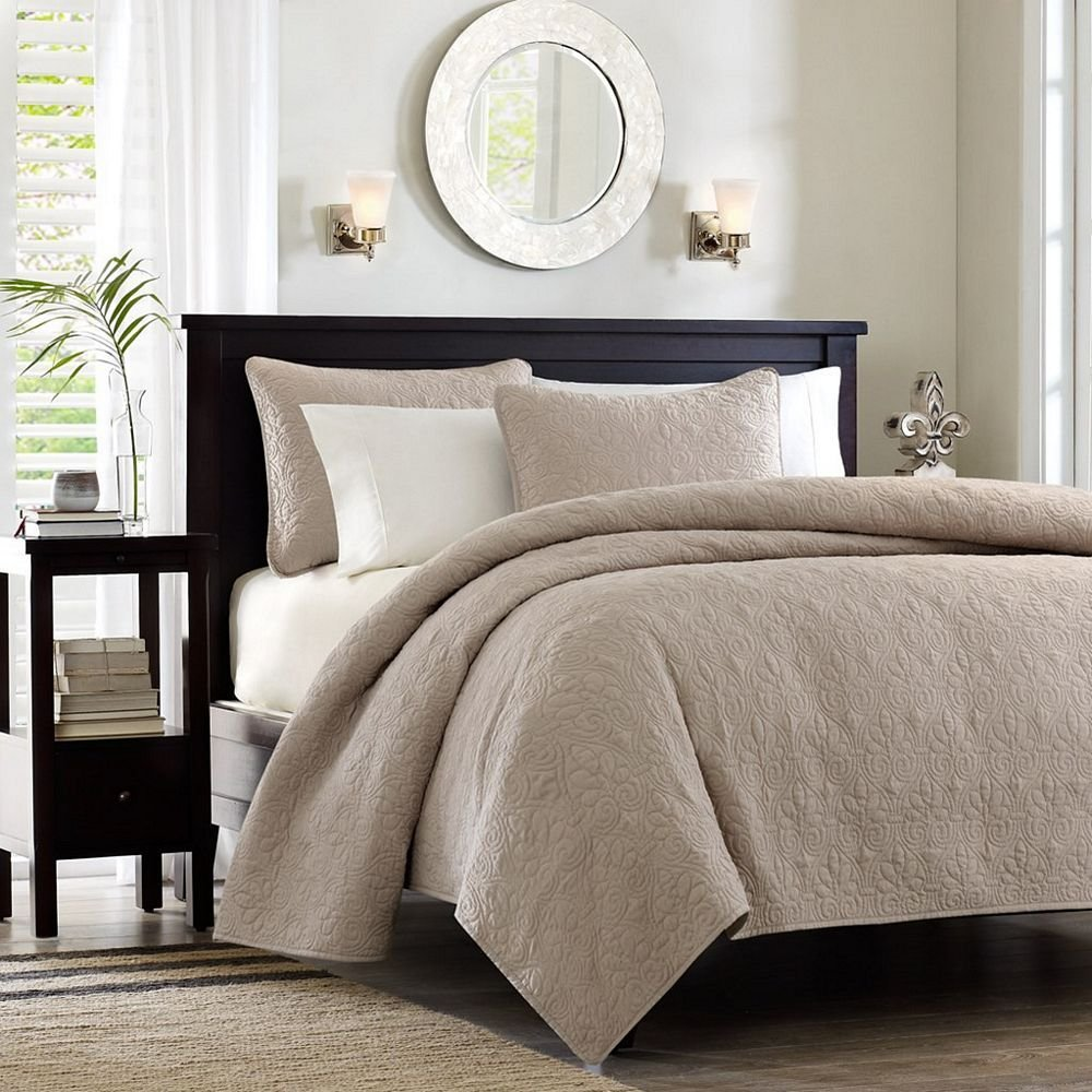 Best Quebec Khaki Coverlet By Madison Park Beddingsuperstore Com With Pictures