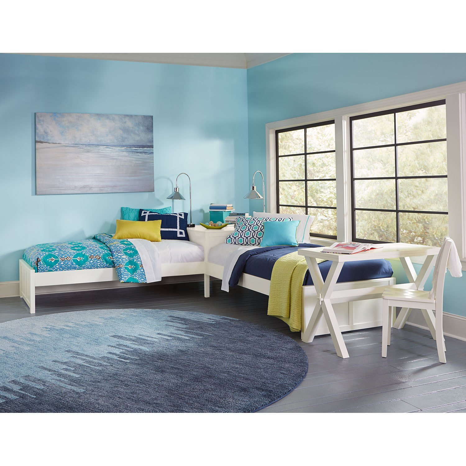 Best Pulse White L Shape Bed Ne Kids Standard Standard Beds With Pictures