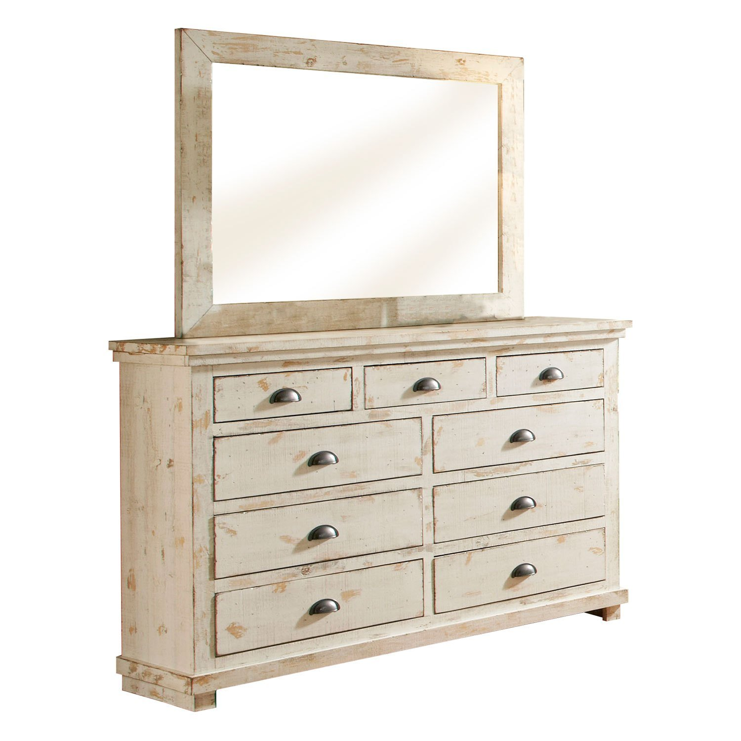 Best Willow Distressed White Dresser Progressive Furniture With Pictures