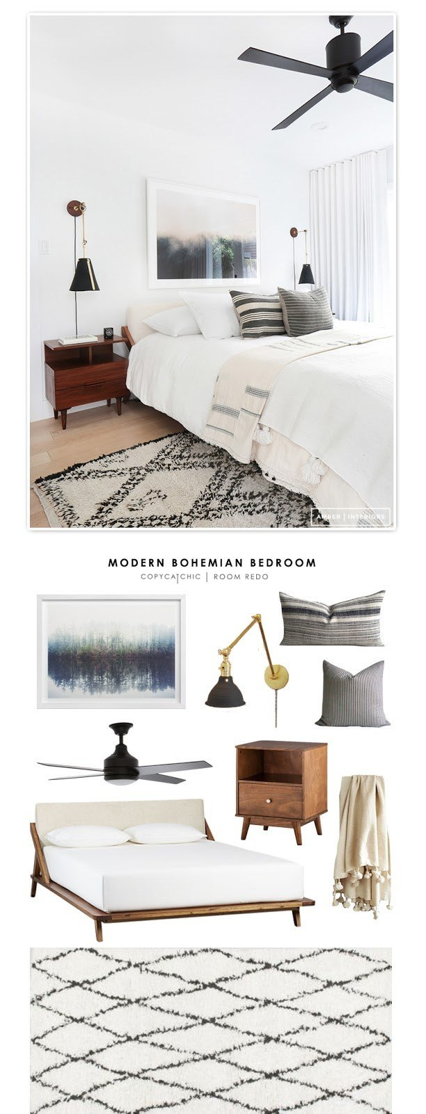 Best Copy Cat Chic Room Redo Modern Bohemian Bedroom With Pictures