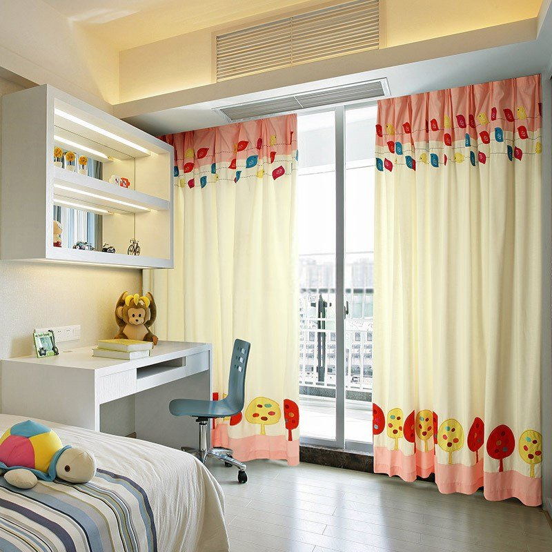 Best Blackout Kids Bedroom Curtains With Patterns Of Cute Chicken With Pictures