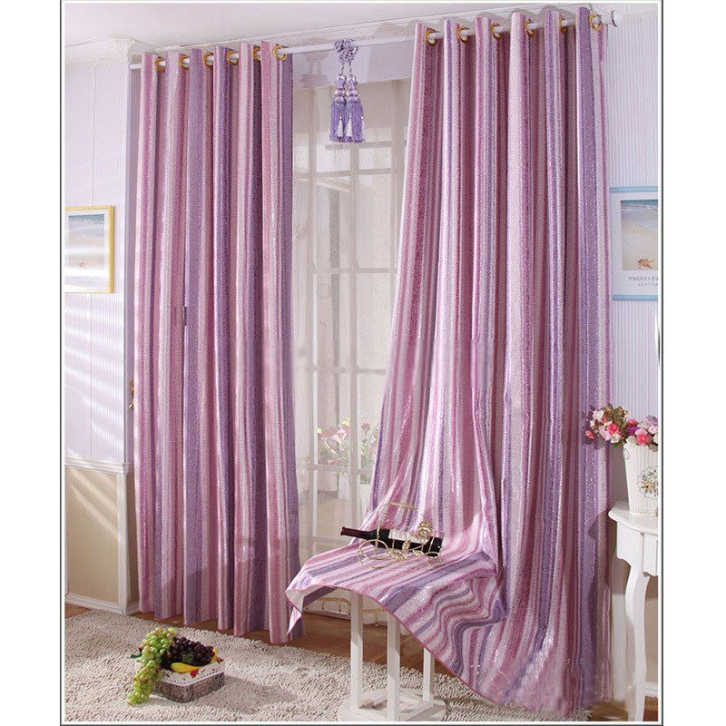 Best Cotton Jacquard Shiny Purple Bedroom Curtains With Pictures