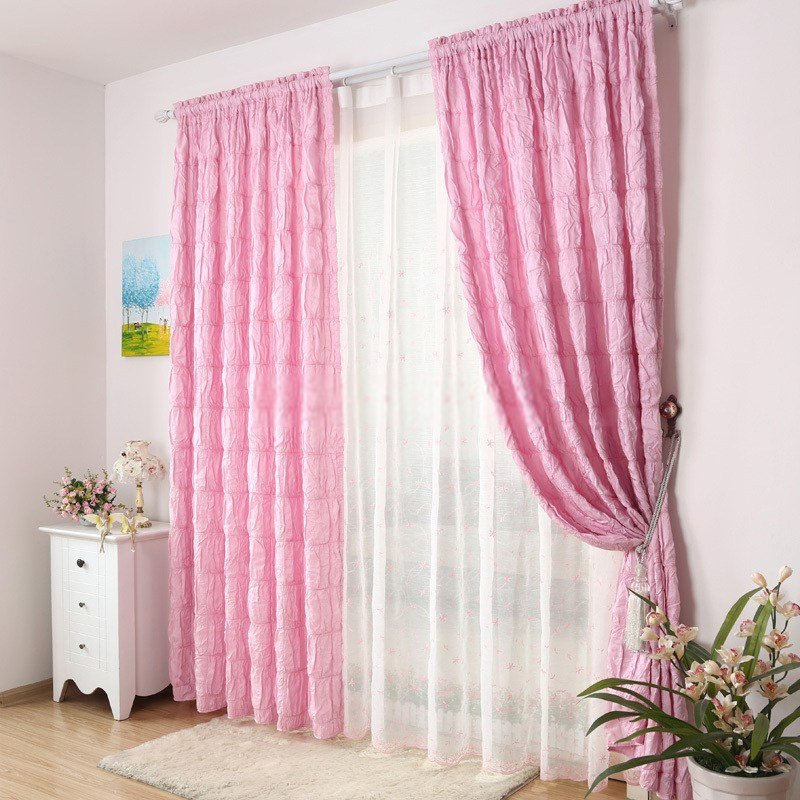 Best Captivating Girls Bedroom Pink Curtain With Pictures