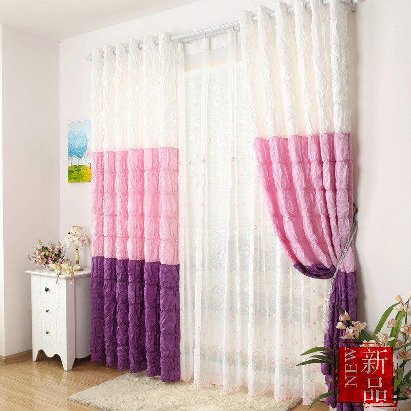 Best Multi Color Chic Style Girls Bedroom Curtains With Pictures